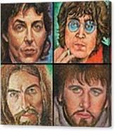 The Beatles Quad Canvas Print