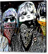 The Beatles wearing face masks Canvas Print