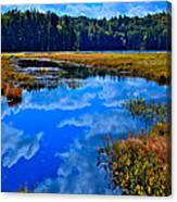 The Beautiful Cary Lake - Old Forge New York Canvas Print