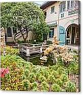 The Beautiful Courtyard Of The Pacific Asia Museum In Pasadena. Canvas Print