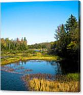 The Beautiful Moose River In Old Forge New York Canvas Print