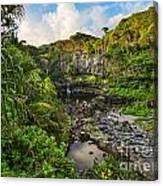 The Beautiful Scene Of The Seven Sacred Pools Of Maui. Canvas Print