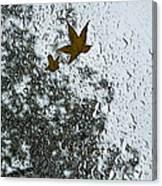 The Beauty Of Autumn Rains - A Vertical View Canvas Print