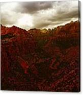 The Beauty Of Zion Natinal Park Canvas Print