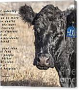The Beef Industry Canvas Print