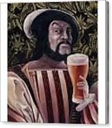 The Beer Drinker Canvas Print