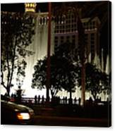The Bellagio At Night Canvas Print