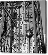 The Bells Of Coney Island In Black And White Canvas Print