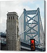 The Ben Franklin Bridge Canvas Print