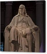 The Benjamin Franklin Statue Canvas Print