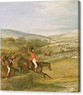 The Berkeley Hunt, Full Cry, 1842 Canvas Print