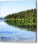 The Best Beach In Glacier National Park Panorama Canvas Print