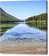 The Best Beach In Glacier National Park Canvas Print