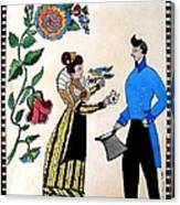 The Betrothal-folk Art Canvas Print