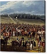 The Betting Post, Print Made By Charles Canvas Print