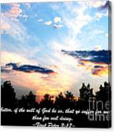 The Bible First Peter Three Seventeen Canvas Print