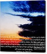 The Bible Matthew 24 Canvas Print