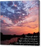 The Bible Matthew 4 Canvas Print