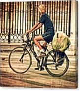 The Bicycle Rider - Leon Spain Canvas Print