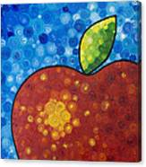 The Big Apple - Red Apple By Sharon Cummings Canvas Print