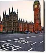 The Big Ben Bus Lane - London Canvas Print