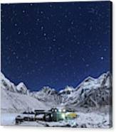 The Big Dipper Rise Above The Himalayas Canvas Print