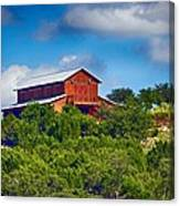The Big Red Barn Canvas Print