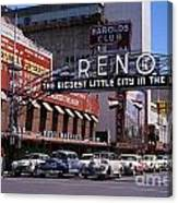 Reno The Biggest Little City In The World 1940s Canvas Print