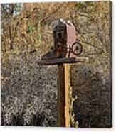 The Birdhouse Kingdom - Cowbird Home Canvas Print