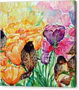 The Birds Of Spring Shower Blessings On You Canvas Print