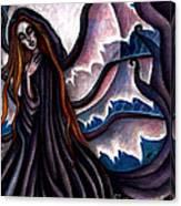 The Black Belladonna Canvas Print