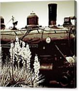 The Black Steam Engine Canvas Print