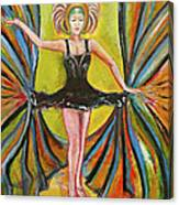 The Black Tutu Canvas Print