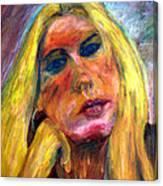 The Blonde 2 Canvas Print