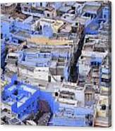 The Blue City Of Jodhpur In India Canvas Print