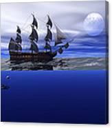 The Blue Deep Canvas Print