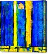 The Blue Doors Of La Rue Des Fauves Canvas Print