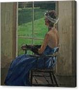 The Blue Dress, 2009 Oil On Canvas Canvas Print