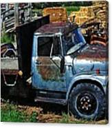 The Blue Farm Truck Canvas Print