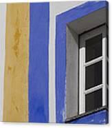 The Blue Framed Window Canvas Print