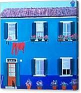 The Blue House Burano Canvas Print