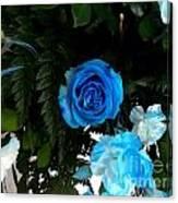 The Blue Pair Canvas Print