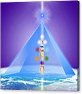The Blue Pyramid Of Protection Canvas Print