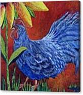 The Blue Rooster Canvas Print