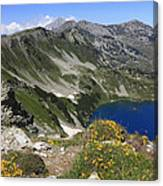 The Blue Vasilashko Lake Pirin National Park Bulgaria  Canvas Print