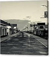 The Boardwalk Before Sunrise In Sepia Canvas Print