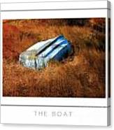 The Boat Poster Canvas Print