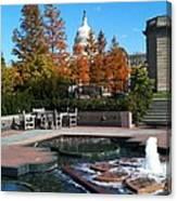 The Botanic Garden Fountain Canvas Print