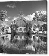 The Botanical Building In Black And White Canvas Print