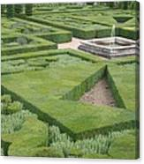 The Boxwood Garden At Chateau Villandry Canvas Print